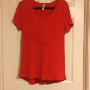 LuLaRoe Orange Top Sz. L